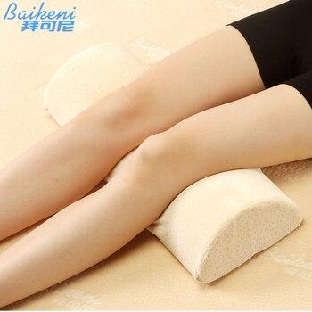 Almohada de embarazo para mujer almohada de pierna hasta la rodilla cojín de espuma de memoria soporte trasero Bolster Yoga coussin almohada de cama para dormir almofada