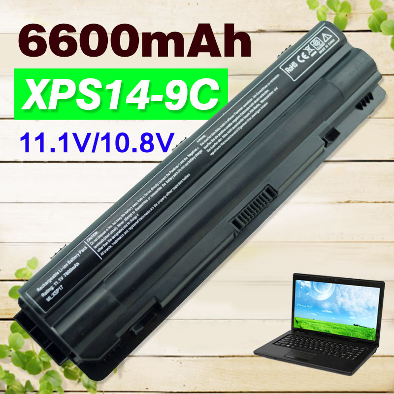6600mAh laptop Battery for Dell XPS 14 15 17 L401x L501x L502x L701x L702x 312-1123 312-1127 J70W7 JWPHF R795X WHXY3 laptop speaker for dell xps l502x l501x left and right set subwoofer speakers