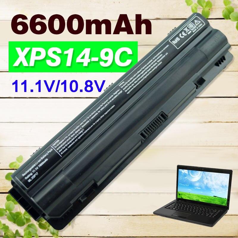 6600mAh laptop Battery for Dell  XPS 14  15  17  L401x   L501x  L502x  L701x  L702x  312-1123 312-1127 J70W7 JWPHF R795X WHXY3