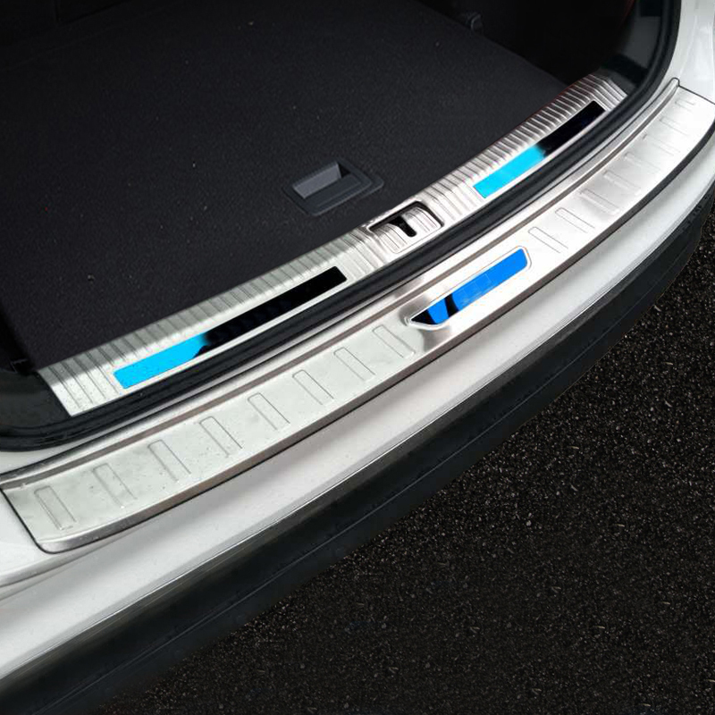 Pour volkswagen tiguan accessoires Tiguan plaque de protection arrière coffre voiture en acier inoxydable porte tiguanMK2 2018-2017 seuil de porte