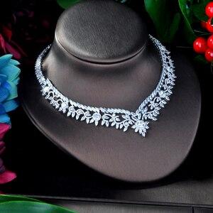 Image 3 - HIBRIDE Elegante Blume Design AAA Cubic Zirkon Frauen Braut Schmuck Sets Für Party Zubehör Schmuck Geschenke N 941