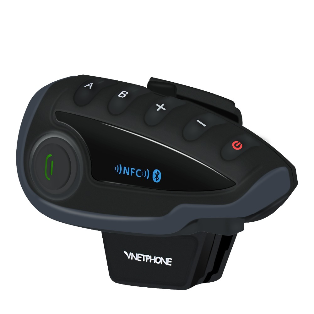 A Pair VNETPHONE V8 Intercom Motorcycle 5 Riders Bluetooth Communication System Helmet Walkie Talkie NFC Remote Control-in Helmet Headsets from Automobiles & Motorcycles    3