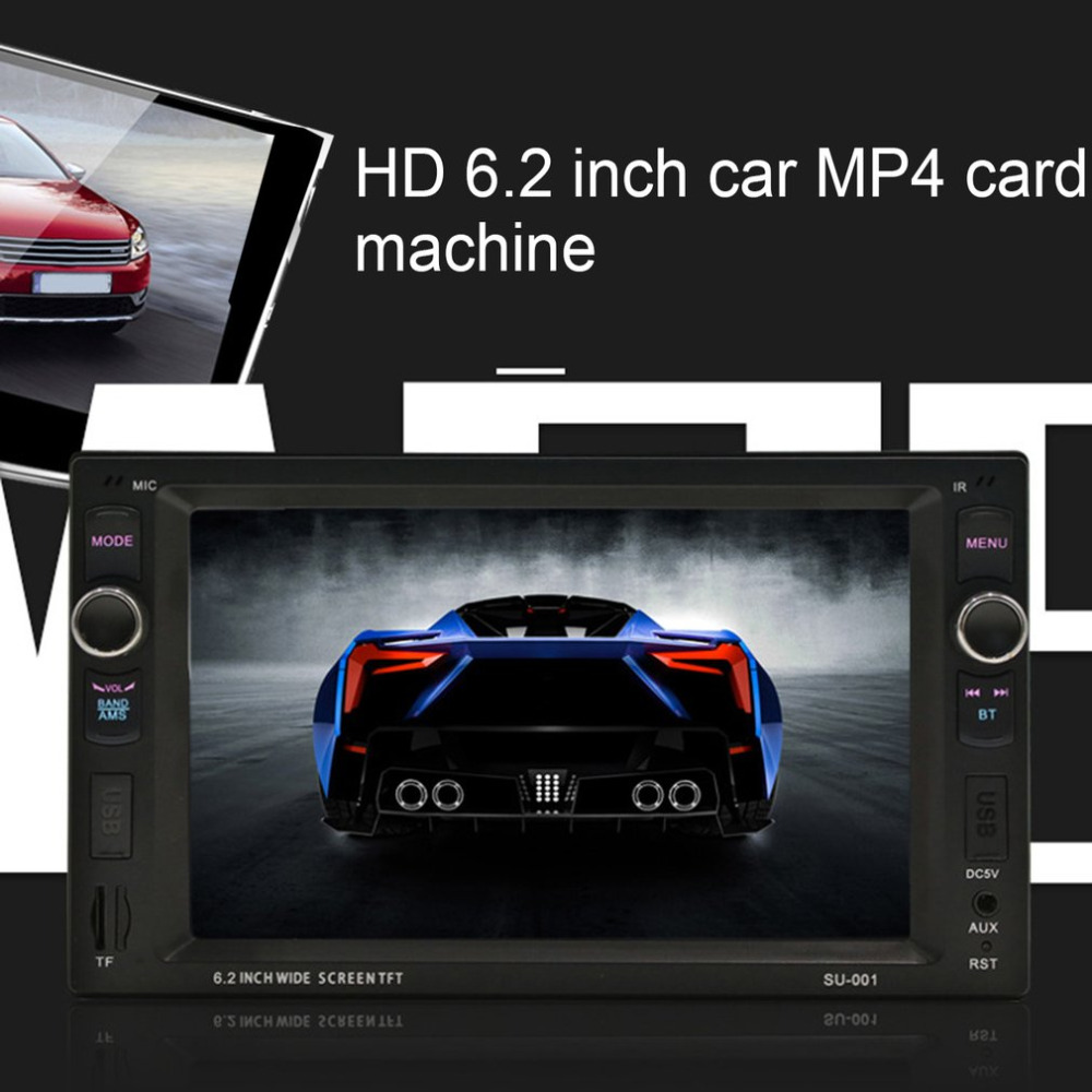 HD 6.2 Inch Car MP3 MP4 Player with LED Screen Support Card-Reading Function & Bluetooth Hands-free Call & Car Backing First