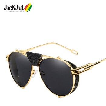 3fdce4cdbd JackJad 2018 nuevas gafas De Sol De estilo De aviación SteamPunk De moda  para hombre, diseño De marca Vintage, gafas De Sol geniales De Rock, Oculos  De Sol ...