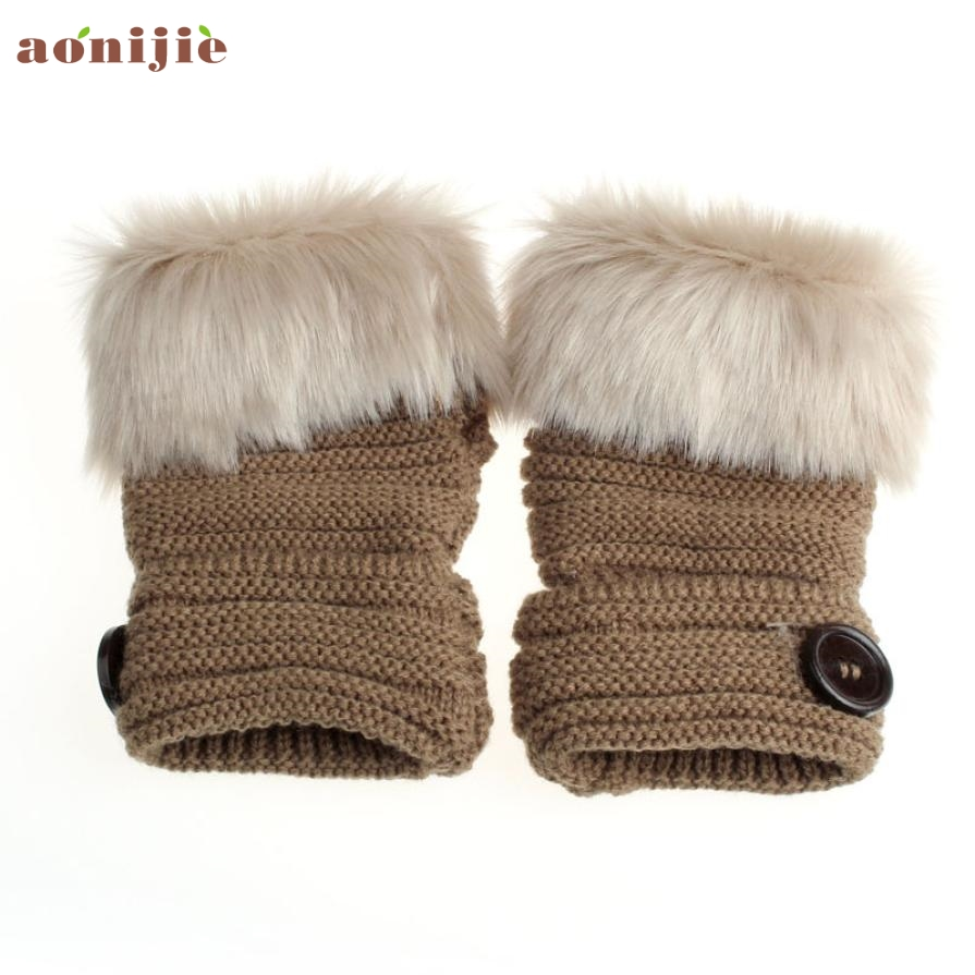 Womens leather ski gloves - Activing 2017 Best Deal Women Warm Winter Faux Rabbit Fur Wrist Fingerless Gloves Mittens Skiing Gloves St23