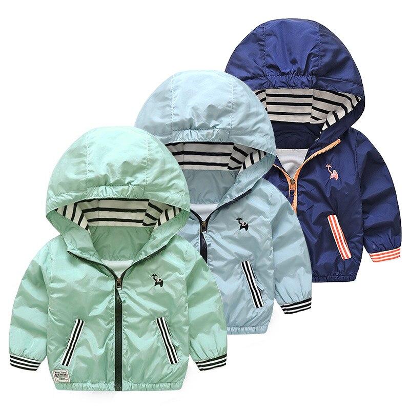 2018 Frühling Herbst 2-10 Jahre Kinder Geschenk Sport Lange Sleeve Zipper Tasche Outdoor Tops Outwear Schule Baby Kinder Jungen Jacke