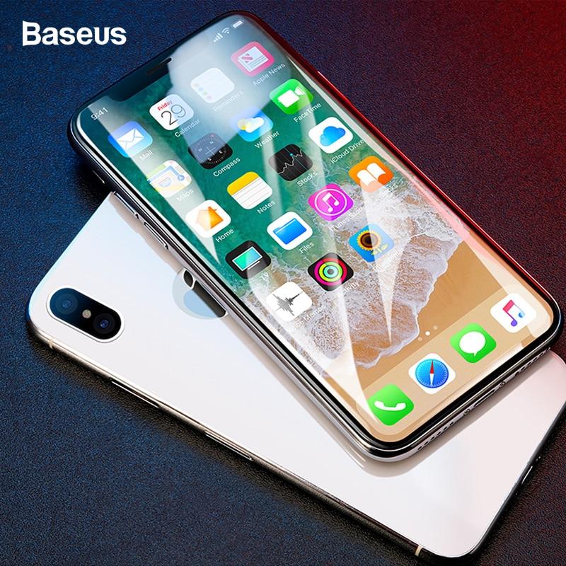 Baseus Protetor de Tela de Vidro Temperado Para o iphone X 10 4D Superfície Completa Capa de Proteção Film Vidro Para iPhoneX Vidro De Proteção