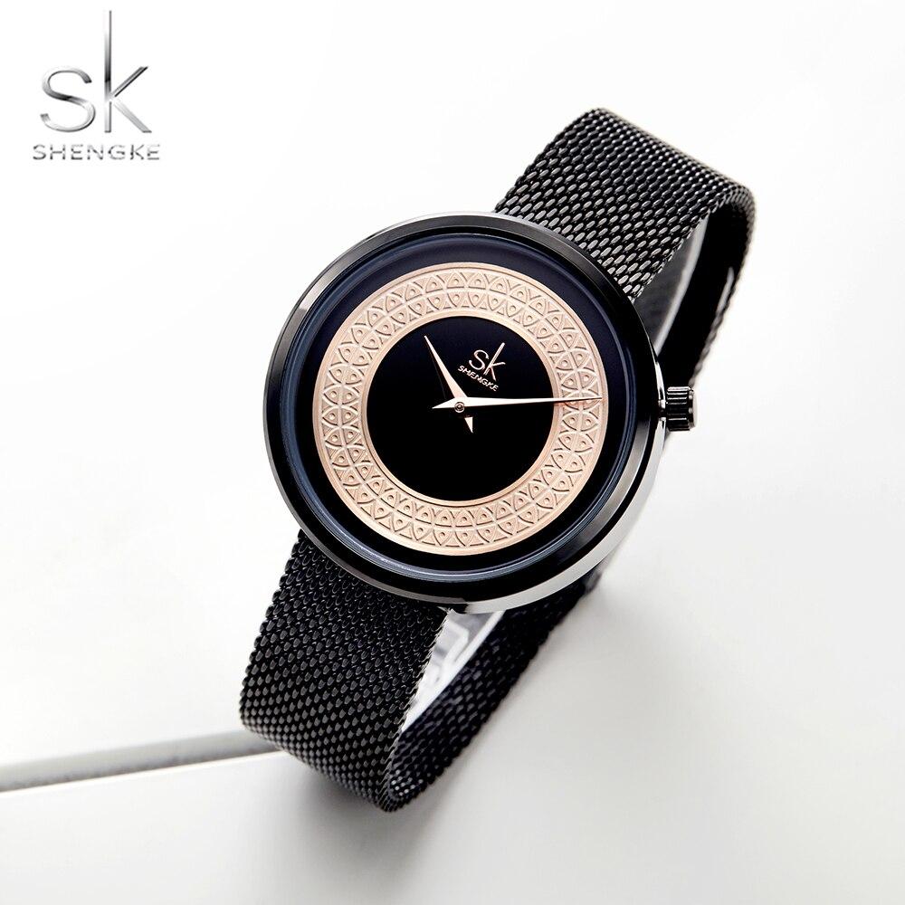 Shengke Women Watches Characteristic Texture Fashion Casual Quartz Female Watches Bayan Kol Saati Wristwatches Reloj Mujer 2019