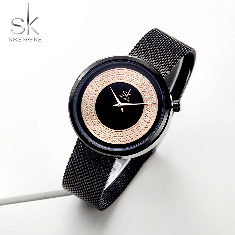 Shengke Women Watches Characteristic Texture Fashion Casual Quartz Female Watches Bayan Kol Saati Wristwatches Reloj Mujer 2019