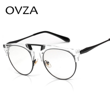 OVZA 2017 Newest Fashion Optical Frame Men Transparent Glasses Frames Women High Quality Metal Spectacle Frame S9025