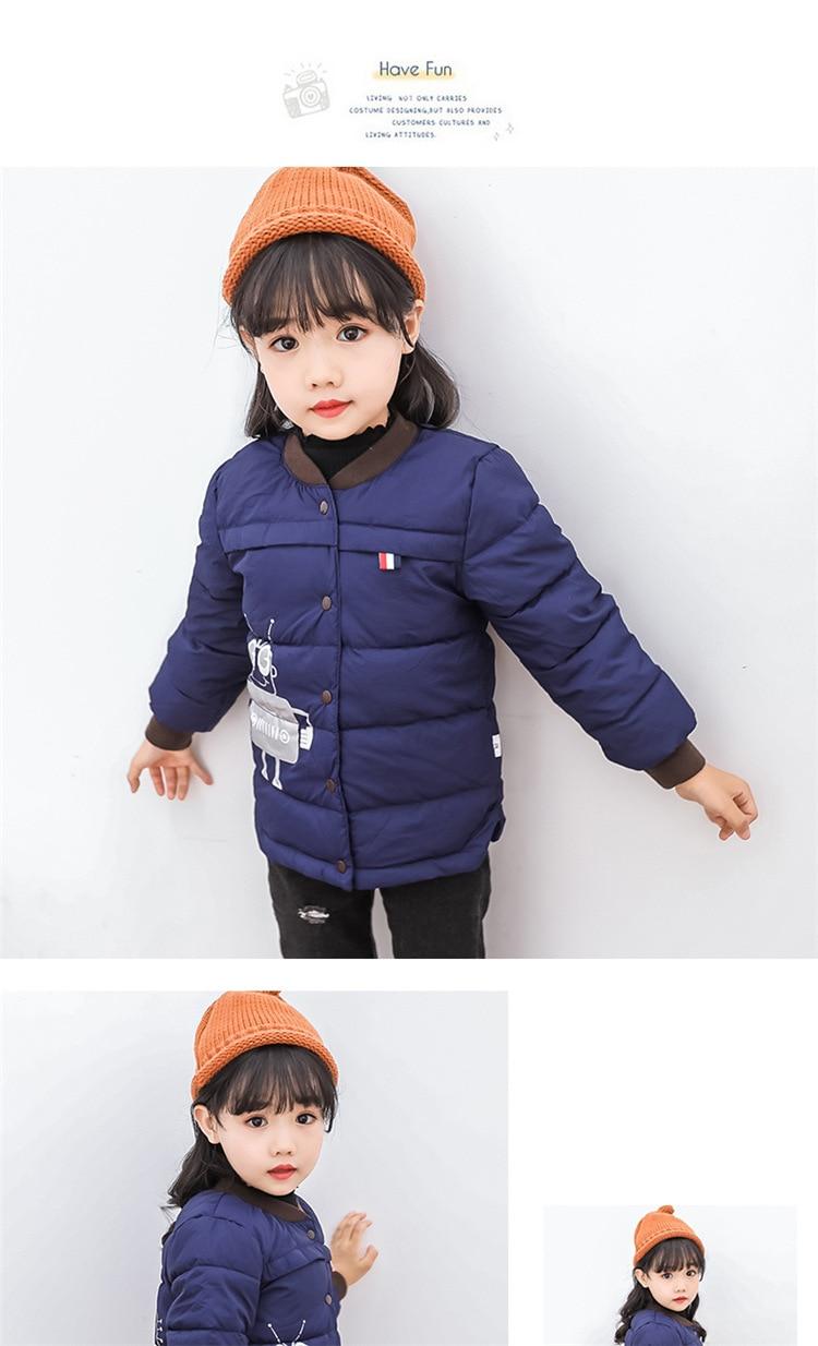2018 Baby Boys Children Outerwear Coat Kids Jackets For Boy Girls Winter Jacket Warm Hooded Children Clothing Gray Khaki Red (9)