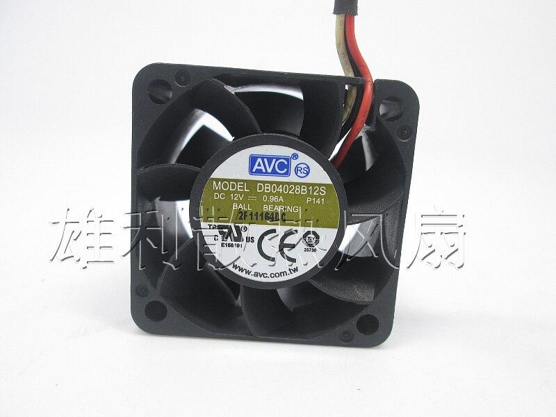 Free Delivery. Original DB04028B12S 12V 0.96A 4CM 4028 3-Wire Violence Server Fan