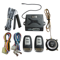 Universal PKE Car Keyless Entry Alarm System with Remote Engine Start / Push Start Stop Button / Trunk Release