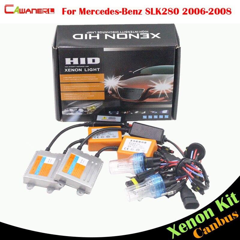 Cawanerl 55W Auto HID Xenon Kit No Error Ballast Bulb AC Car Light Headlight Low Beam For Mercedes Benz R171 SLK280 2006-2008