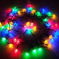Solar String Lights Outdoor Decorative Waterproof 50 Colorful LEDs Lantern Landscape Lamp for Patio Outside Party Yard Festival