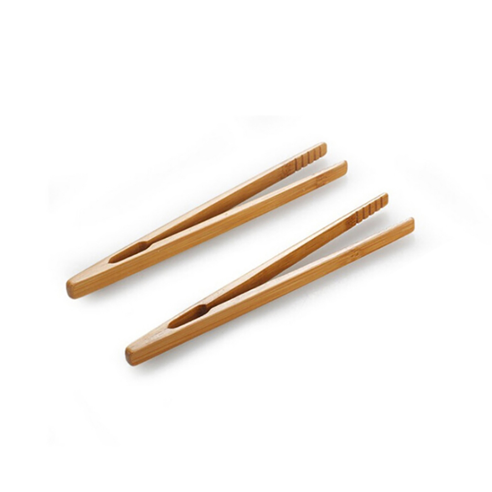 2Pcs Bamboo Wood Toast Tea Clip Tong Wooden Squeezer Toaster Bagel Bacon Sugar Ice Tea Tongs Accessories