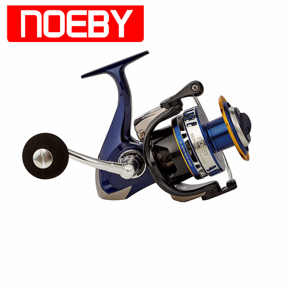 NOEBY Fishing Reel 10+1BB 4.9:1 Moulinet Spinning Carrete De Pesca Fishing Coil Wheel 6000 7000 Series Peche недорго, оригинальная цена