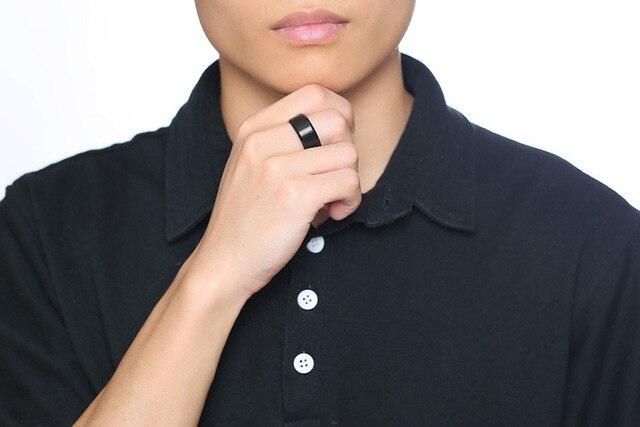 Купить мужские вечерние кольца 10 мм черные из нержавеющей стали модные картинки