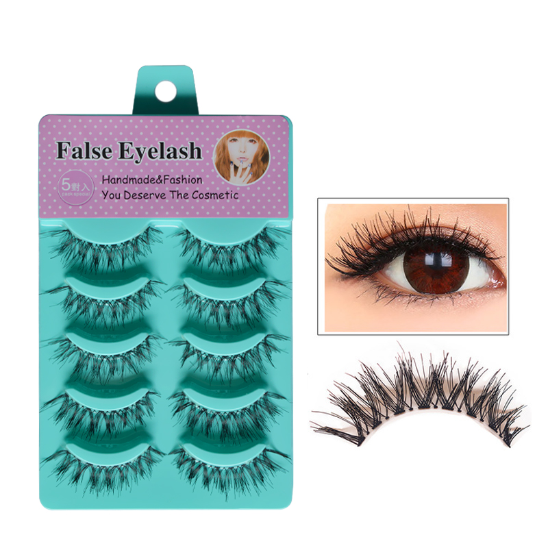 5 Pair/set Handmade Thick Long Crisscross False Eyelashes Fake Eye Lashes Eyelash For Eye Lashes Makeup  HW-8