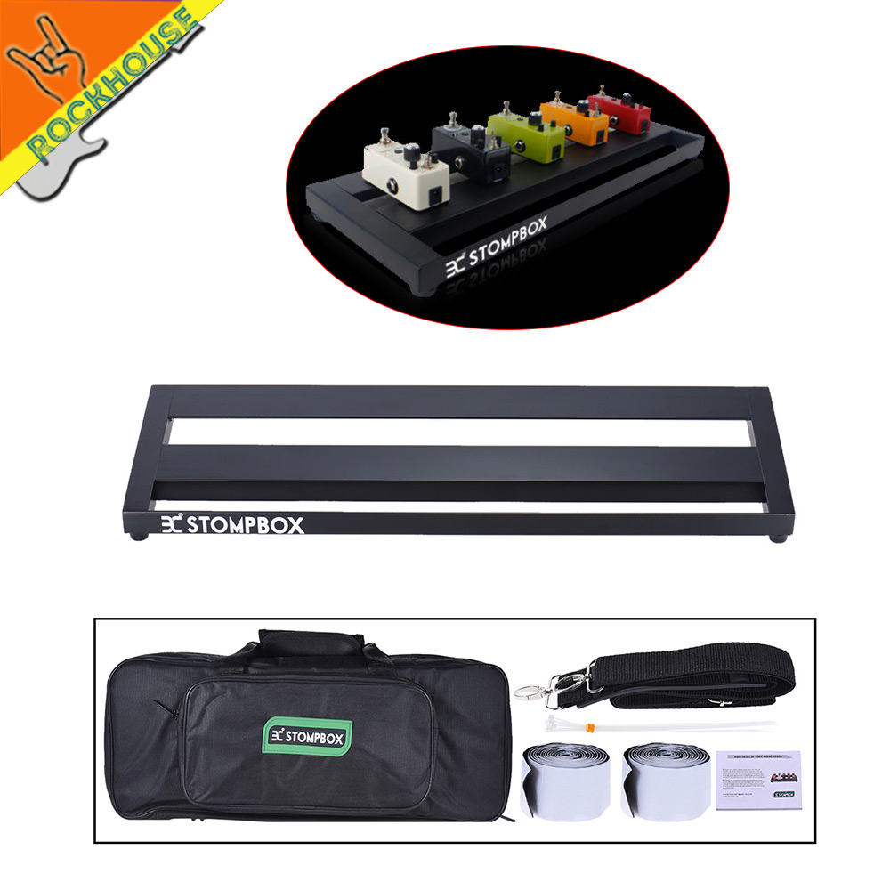 ФОТО Portable Guitar Pedal Board Pedalboard Aluminum Alloy with Carrying Bag Handbag 2 Fastener Velcro Free shipping
