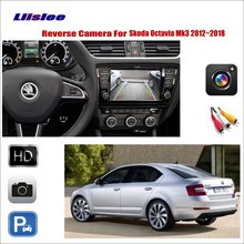 цена на Liislee Car Reverse Rear View Camera For Skoda Octavia Mk3 2012~2018 / Compatible With Original Screen / RCA Adapter Connector
