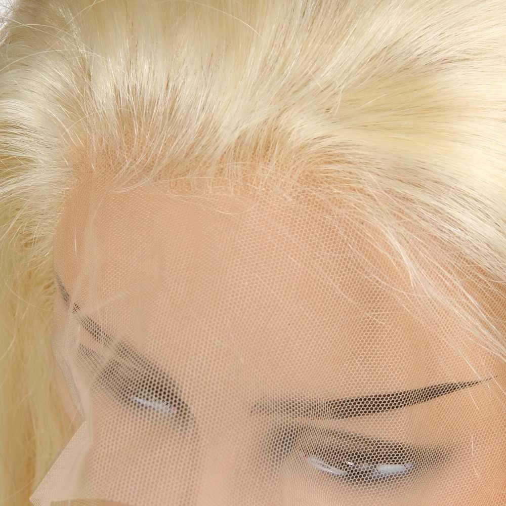 [Berrys Moda] Tam sırma insan saçı Peruk Düz 130% Yoğunluk Doğal Saç Çizgisi Ücretsiz Bölüm Perulu Remy Saç