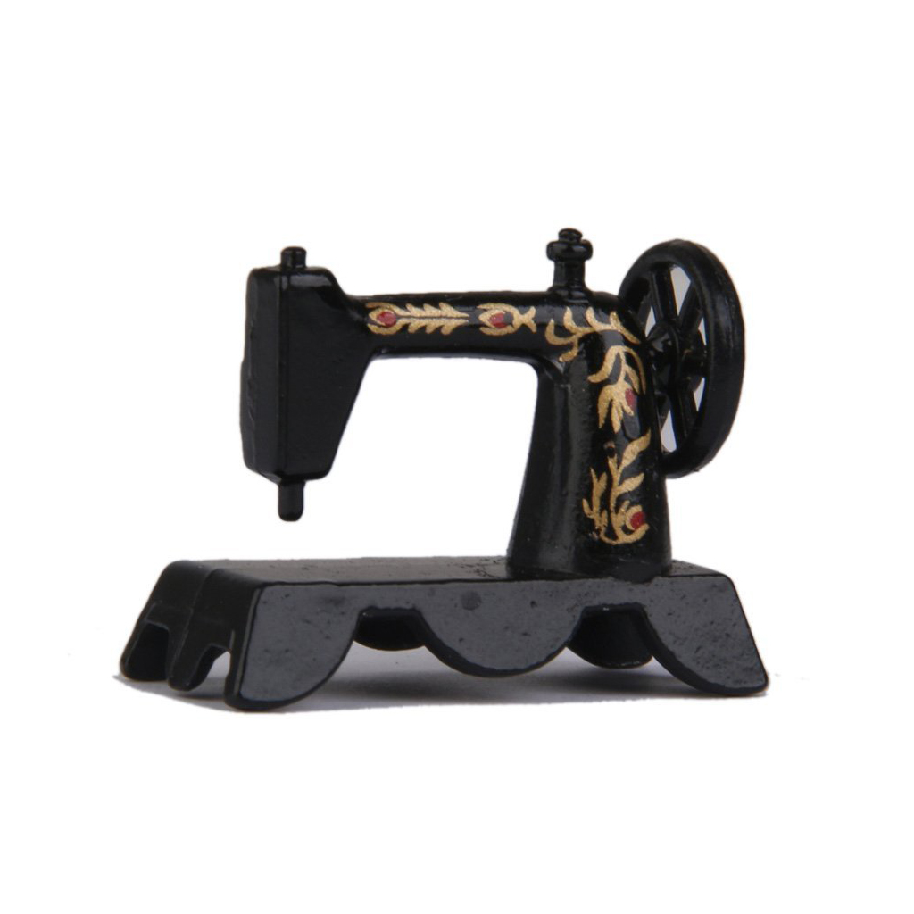 New 1/12 dollhouse dolls Mini sewing machine toys for doll Black