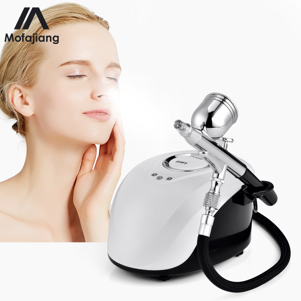 Skin Care Portable Spa Mini Spray Gun Air Paint Face Steamer Nano Sprayer Nebulizer Compressor Water Oxygen Meter Facial Tools 3