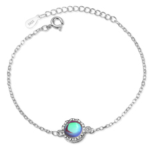 LUKENI New Fashion Silver 925 Bracelets For Women Accessories Top Quality Moon Stone Female Girl Birthday Jewelry