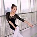 Adultos Ballet Danza Leotardo Media Manga de Encaje Ballet Etapa Traje de Danza Gimnasia Leotardos de Ballet Para Las Mujeres