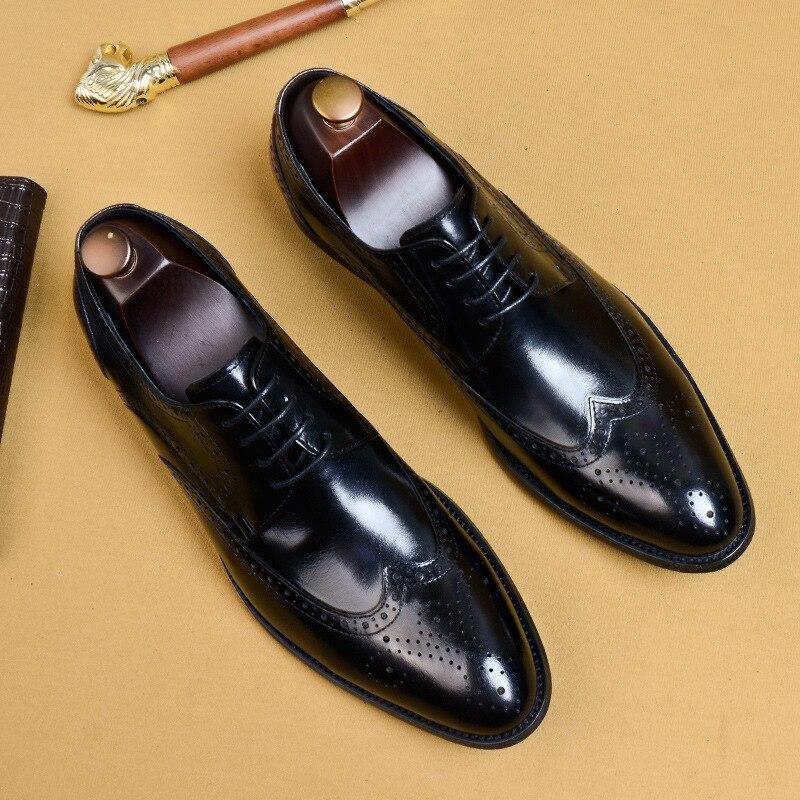 Qyfcioufu 2019 novos homens vestido sapatos de