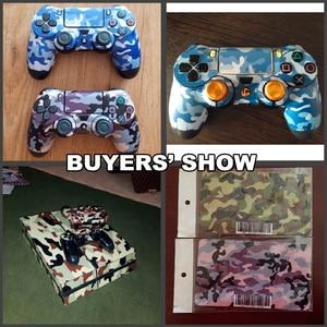 Image 2 - Para sony ps4 controlador camuflagem vinil pele adesivo capa pele para playstation 4 gamepad decalque joystick controle