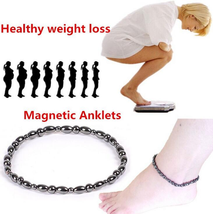New Vintage Black Magnetic Therapy Anklet Shellhard Beads Foot Chain Healthy font b Weight b font
