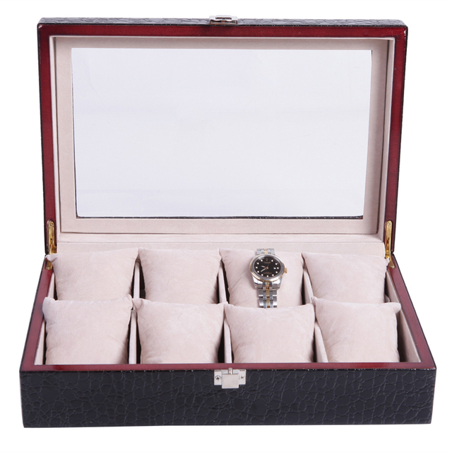 Leather Watch Box Jewelry Box Leather Solid Wood Watch Box/case/organizer  High