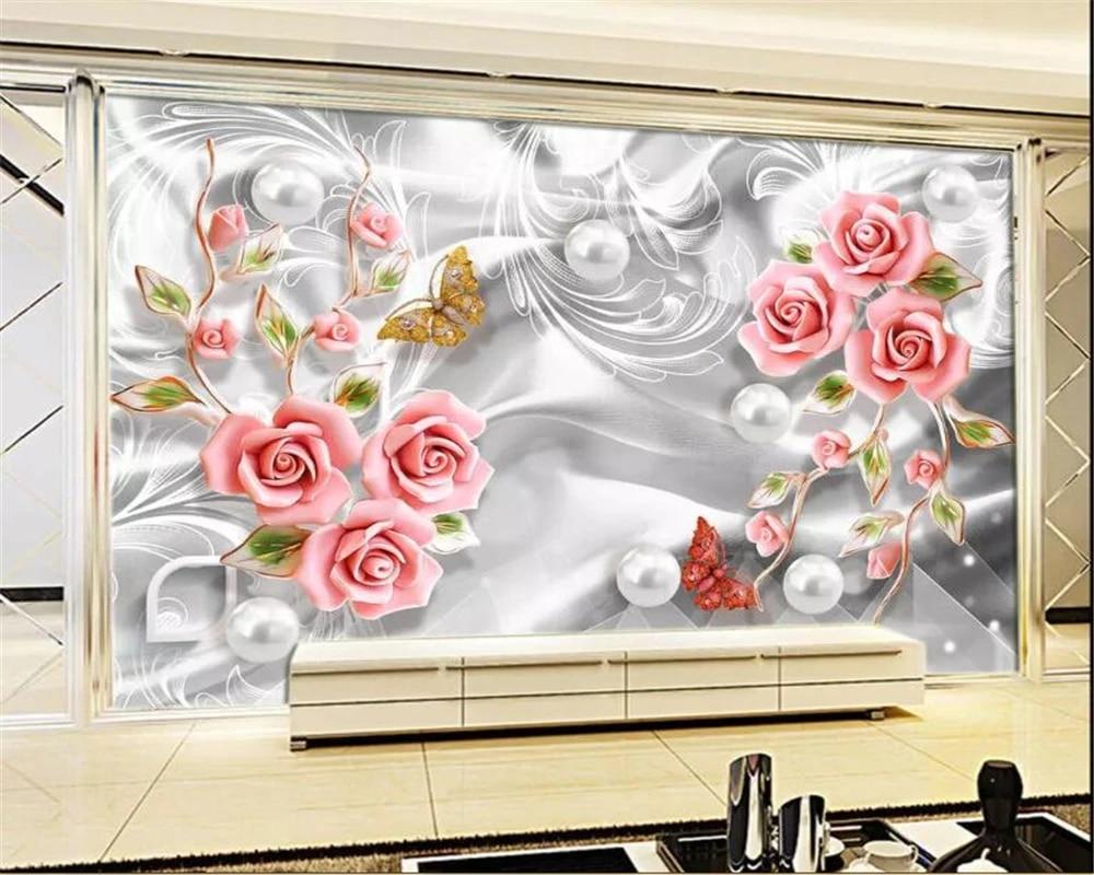 Il prezzo della carta da parati, compresa la fornitura e la posa, varia dai € 15 / m² a € 35 / m². Beibehang Custom Wallpaper Mural Silk Beads Flower Decoration Embossed Flowers Butterfly Photo 3d Wallpaper Carta Da Parati Wallpapers Aliexpress