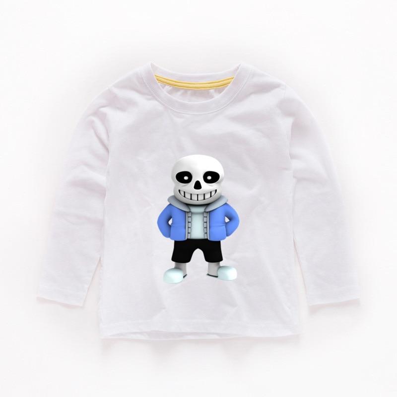 2T 12T Boys or Girls Anime undertale Print T shirt Kids Funny Clothes Baby Cartoon Long Sleeve T shirt,b256