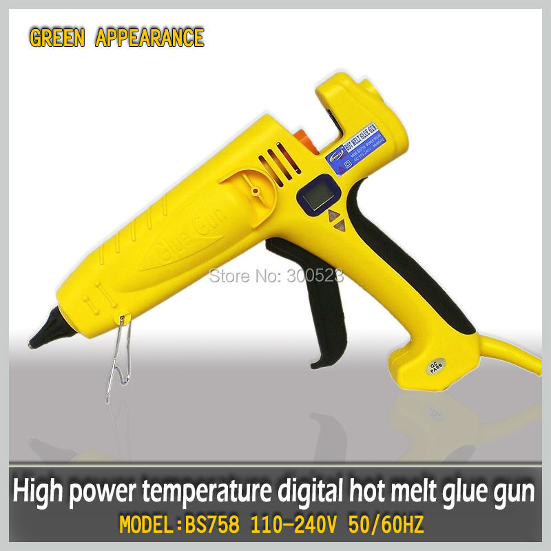 Wholesale 400W digital display thermostat EU plug hot melt glue gun,industrial glue gun, 1 pcs/lot стоимость