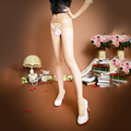 2017 Open Crotch Pantyhose Sexy Women's Thigh High Transparent for Spring Fall Knee High Socks 4 Colors Stockings