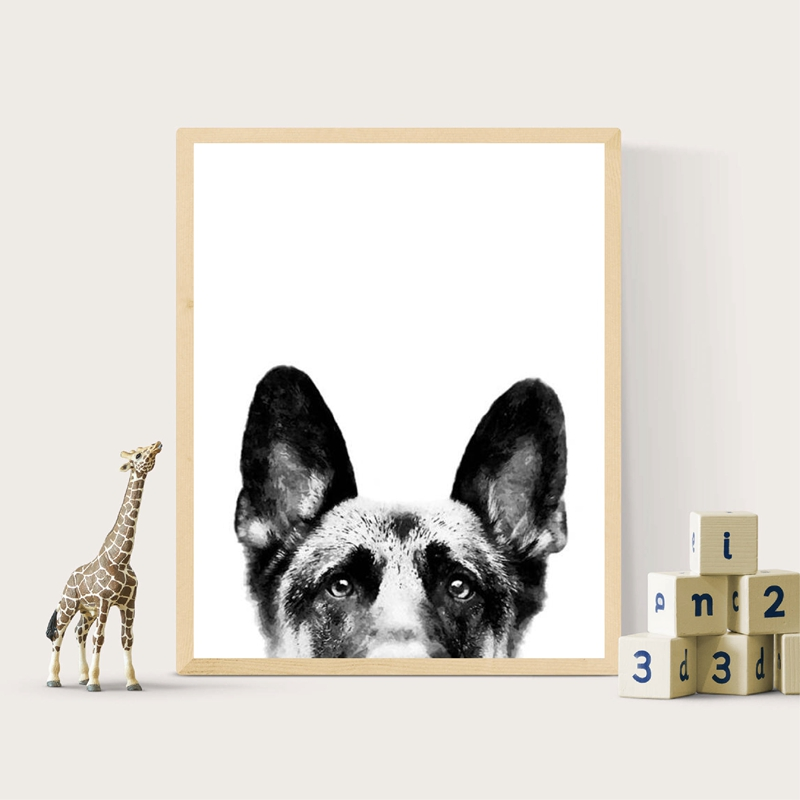 German-Shepherd-Canvas-Poster-Nursery-Wall-Art-Print-Watercolor-Pet-Dog-Painting-Nordic-Picture-Children-Bedroom (1)