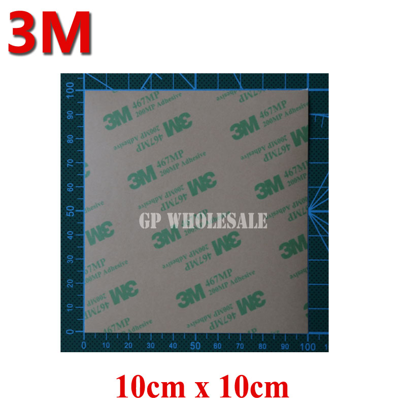 5PCS 10cmx10cmx0.05mm Clear 3M 467 467MP 200MP Double Sided Adhesive Tape For Touch Screen Iphone LED LCD Nameplate