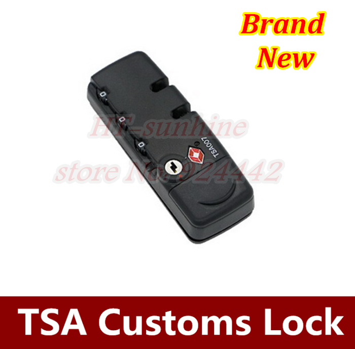 Hot sale  3PCS/LOT   TSA007 Customs Password lock travel Luggage Locks Security 3 Digit combination padlock Suitcase 2016 orange manual and automatic bluetooth smart window lock bicycle lock luggage lock stainless steel padlock hot sale