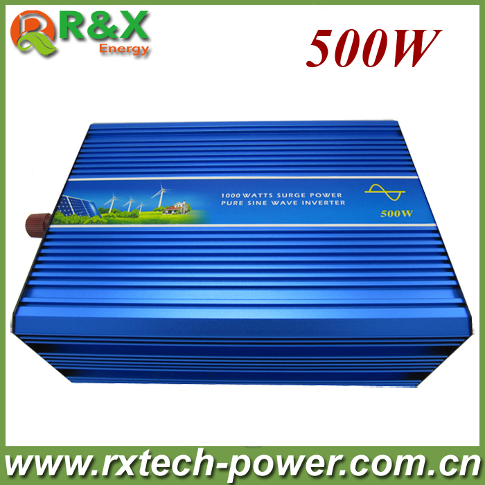 цена на 500w off grid pure sine wave inverter, 12V/24V DC to 100/110/120/220/230/240VAC wind inverter. 2 years warranty.