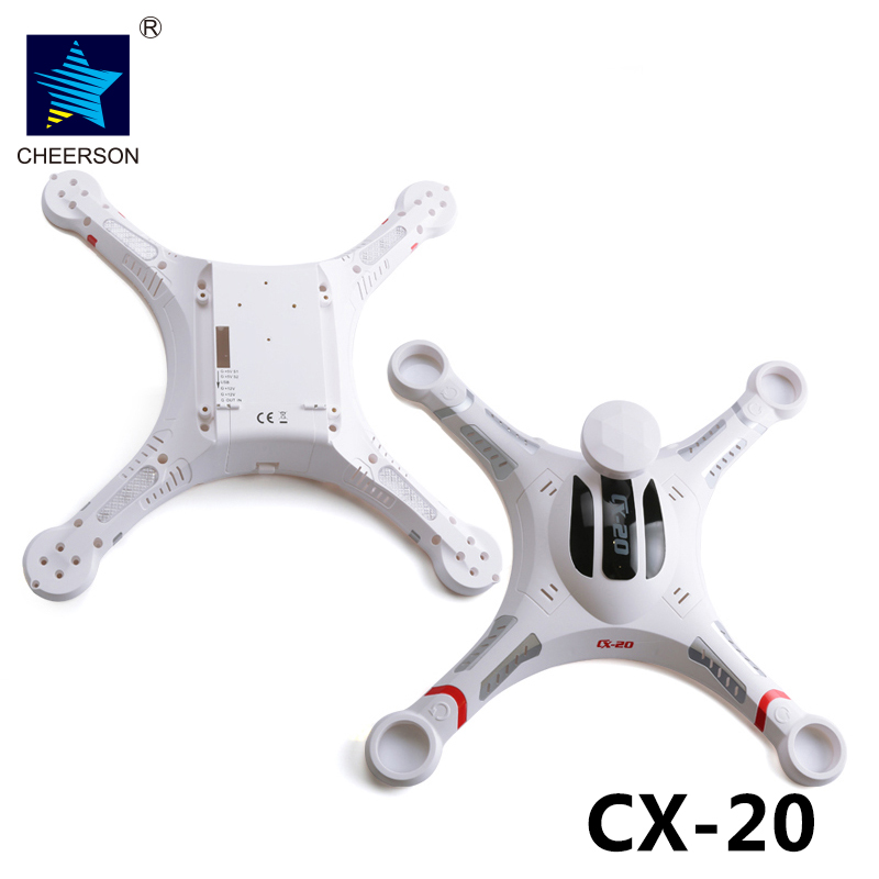 Cheerson CX-20 RC Drone Shell Quadcopter Drone Cover CX-20 Spare Parts Upper Cover Body 2pcs lot original cheerson cx 20 cx20 spare parts skid landing gear for cx 20 rc quadcopter spare parts drones