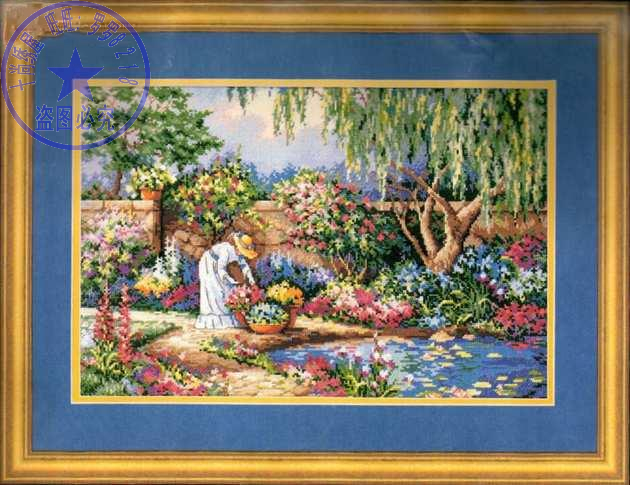 Top Quality Beautiful Lovely Counted Cross Stitch Kit Woman Lady Girl In Flowers Garden Park Dim 03780
