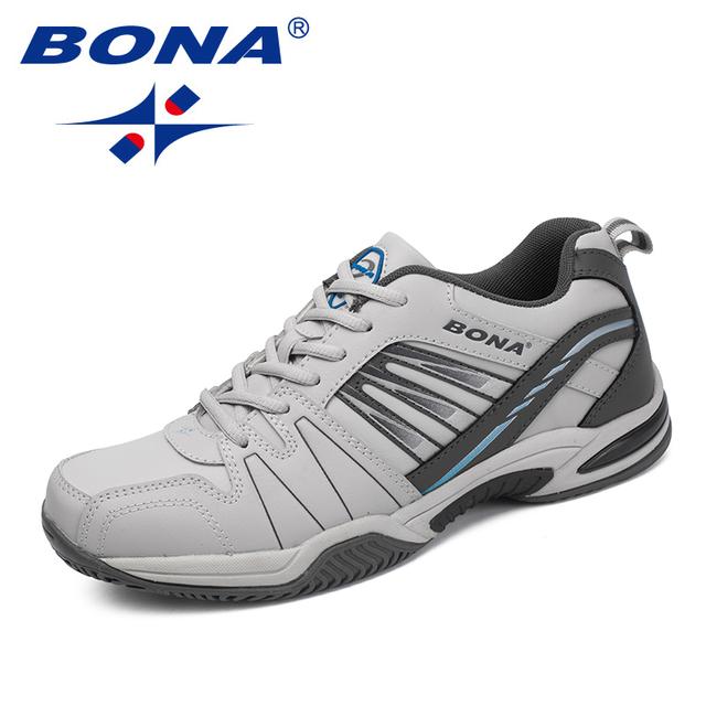 BONA New Arrival Classics Style Men Tennis Shoes Lace Up Men Athletic Shoes Outdoor Jogging Shoes Comfortable Sneakers Shoes