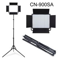 Студия CN 900SA 6850 лм 5600 K светодиодный свет видео с v замком крепление для аккумулятора + 185 см Свет Стенд Комплект
