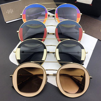 2017 Spring And Summer Clothes Sun Glasses New Trend Fashion Women Round Frame Round Glasses And