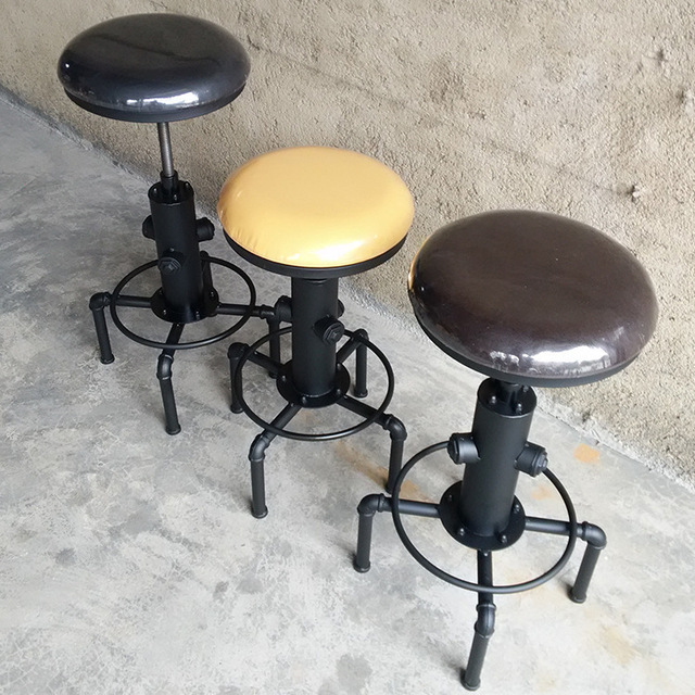 American Do The Old Wrought Iron Chairs, Wrought Iron Bar Chairs Bar  Hydrant Retro Tall