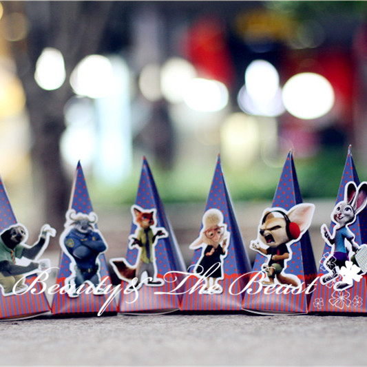 Zootopia Animal Candy Box Gift Favor Dessert Party Supplies Birthday Decorations Kids Baby Shower Cake Table In Bags Wrapping