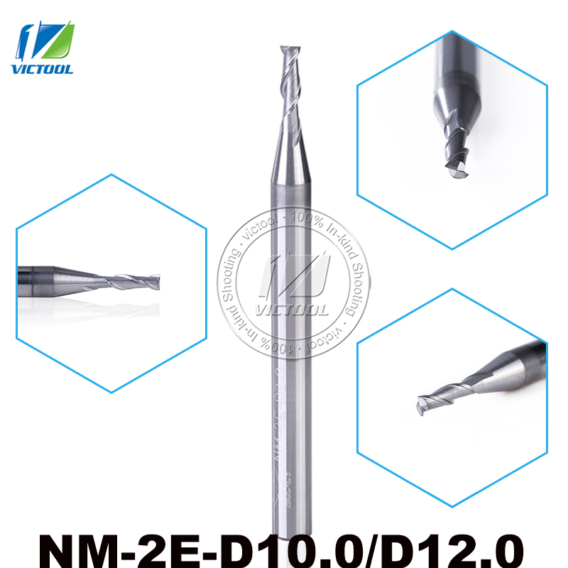NM-2E-D10.0/D12.0 Solid Carbide High Speed 2 Flute Flattened End Mills With Straight Shank Tungsten Milling Cutter Tools